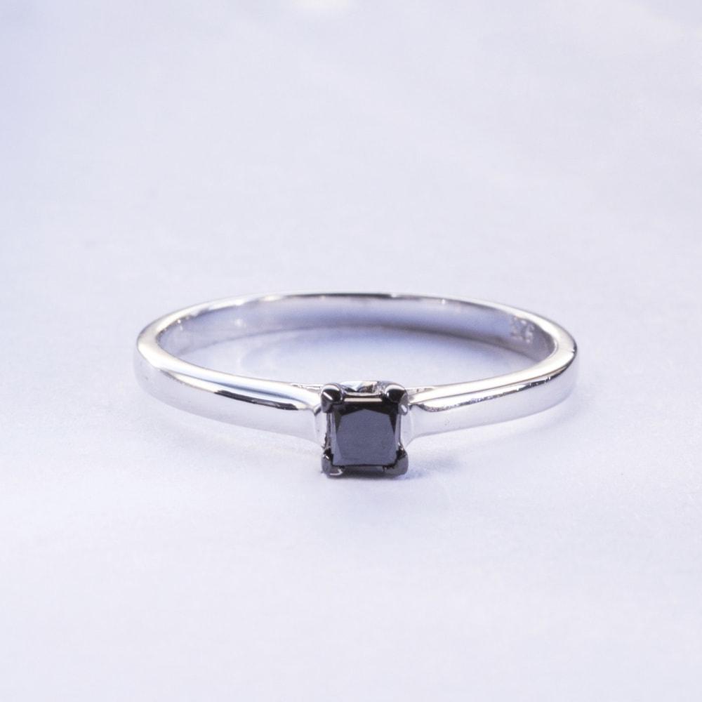 klenota silberring mit schwarzem diamant ringe diamant. Black Bedroom Furniture Sets. Home Design Ideas