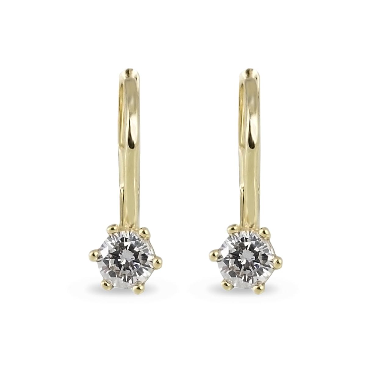klenota goldohrringe mit diamanten ohrringe diamant. Black Bedroom Furniture Sets. Home Design Ideas