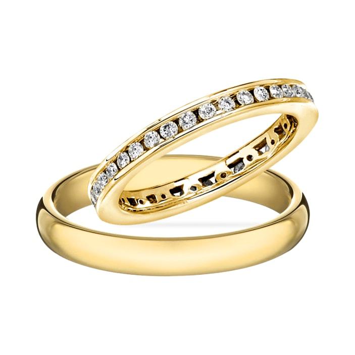 klenota ehering mit diamant aus gold trauringe diamanten. Black Bedroom Furniture Sets. Home Design Ideas
