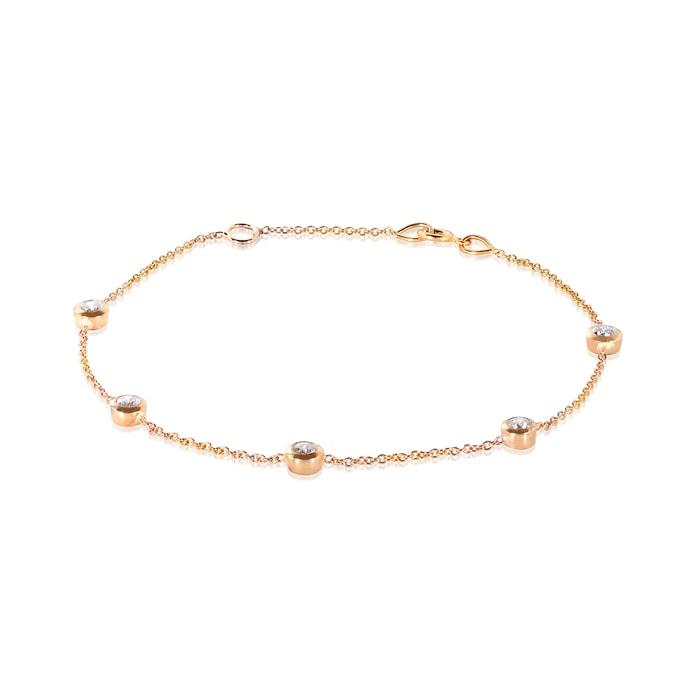 klenota bracelet en or rose et diamant bracelets femme bijoux en ligne. Black Bedroom Furniture Sets. Home Design Ideas
