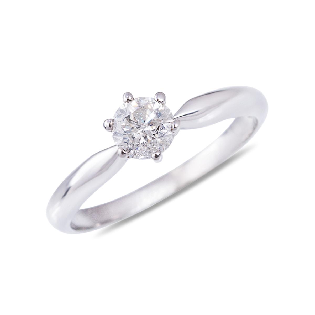 klenota verlobungsring mit diamant aus wei gold verlobungsringe mit diamant. Black Bedroom Furniture Sets. Home Design Ideas